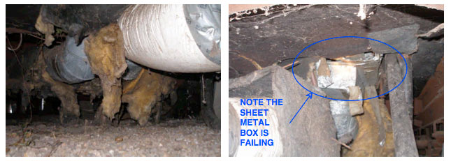 Home Inspection Ventura: Furnace sheet metal failing